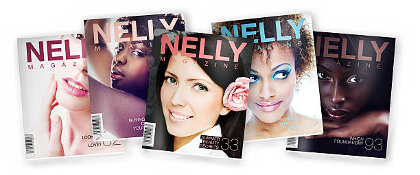 beauty/fashion magazine - magazine cover stock photos and pictures