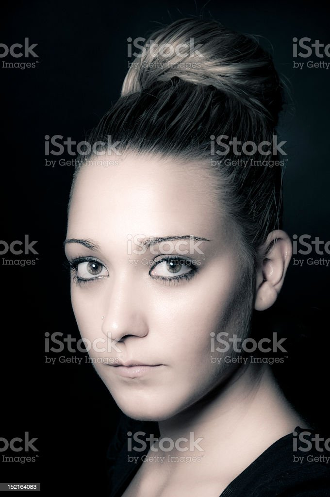 Beautyful girl portrait stock photo