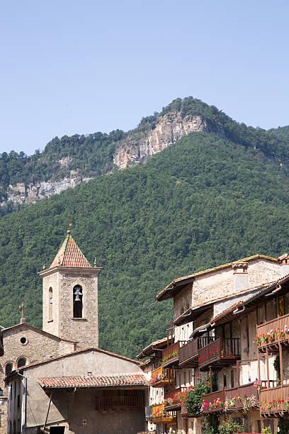 Beautyful town at the pirineus stock photo