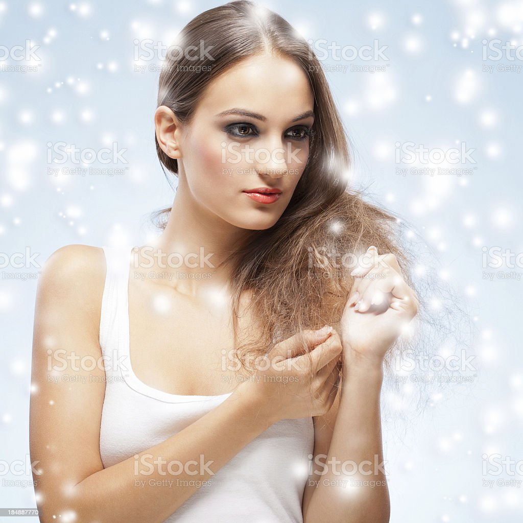 beautys in christmas royalty-free stock photo