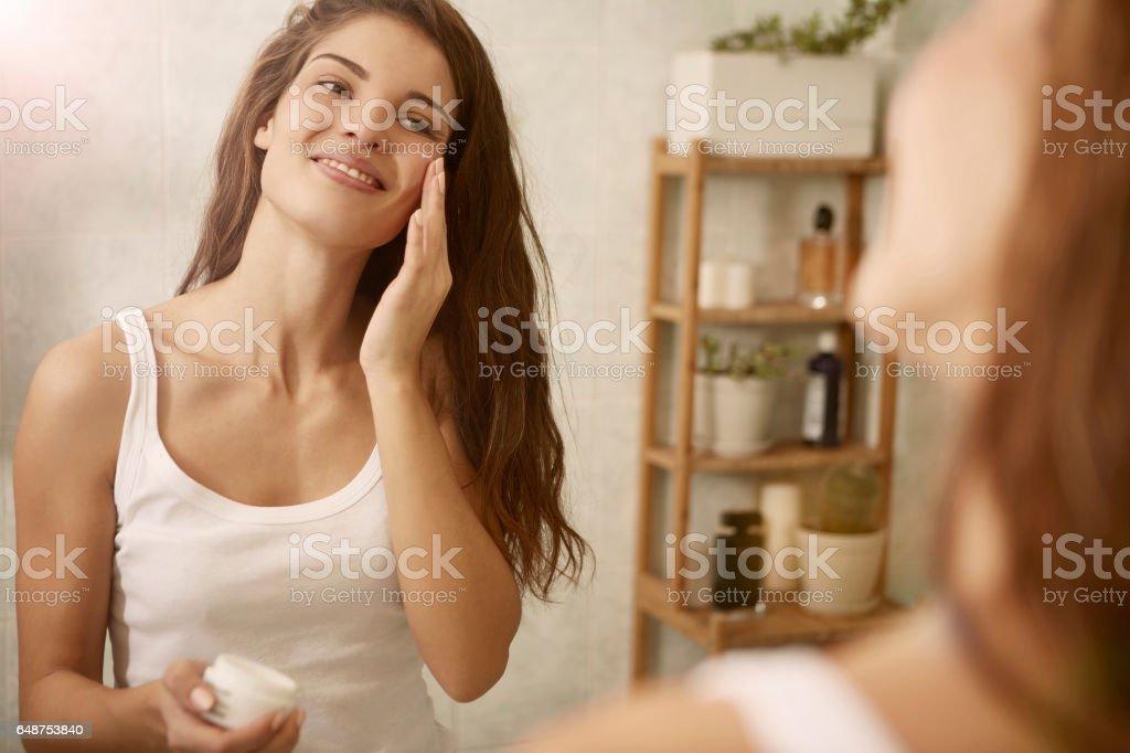 Beauty's lotion stock photo