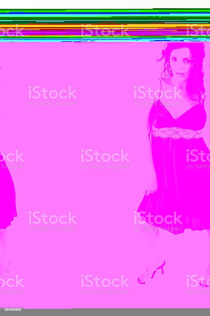 beauty's night out royalty-free stock photo