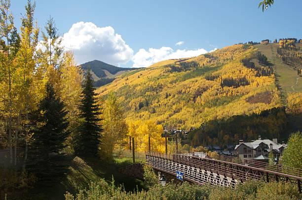 Beaver Creek Colorado Vail Colorado in the fall. vail colorado stock pictures, royalty-free photos & images