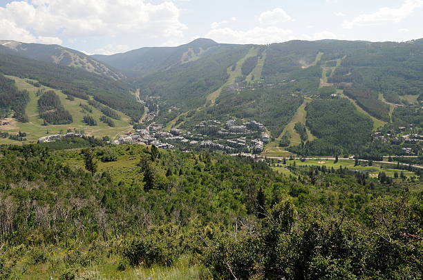 Beaver Creek Beaver Creek Panoramic view avon colorado stock pictures, royalty-free photos & images