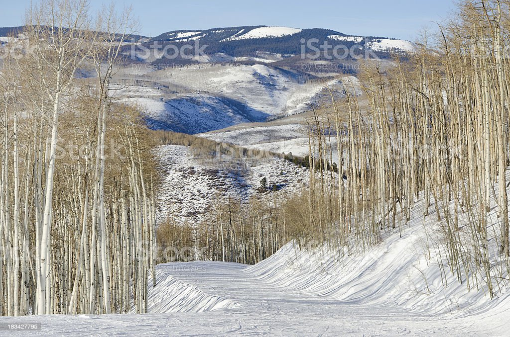 Beaver Creek Ski Run with Nobody stock photo