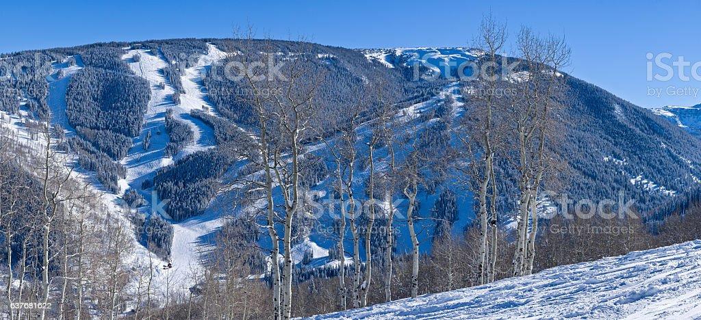 Beaver Creek Ski Runs in Winter stock photo