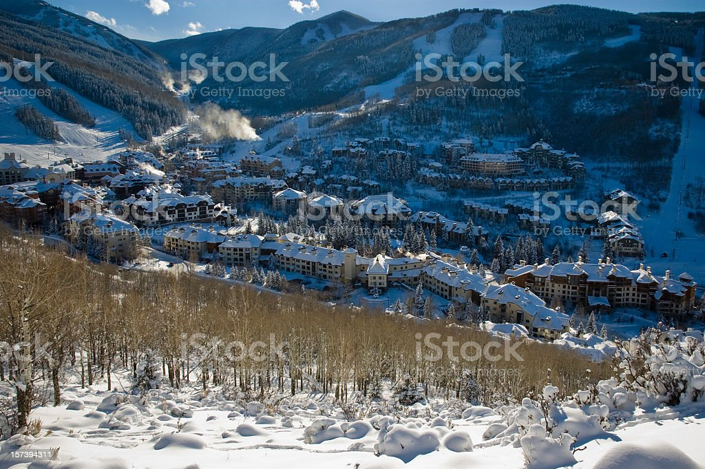 Beaver Creek Ski Village Colorado stock photo