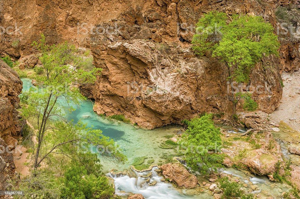 Beaver Falls Havasu Canyon royalty-free stock photo