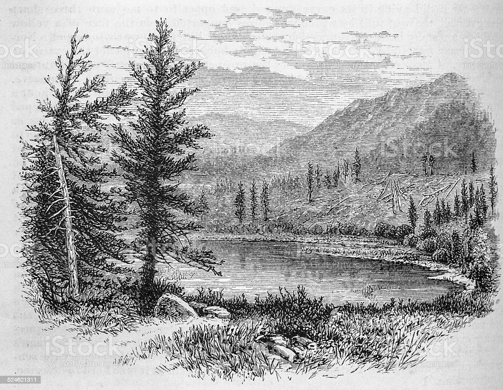 Beaver Lake, Conejos Canyon stock photo