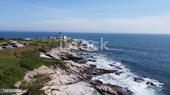 1130689824 istock photo Beaver Tail point Lighthouse in Rhode Island 1251534648