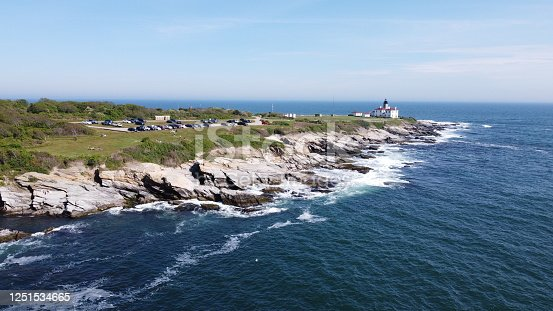 1130689824 istock photo Beaver Tail point Lighthouse in Rhode Island 1251534665