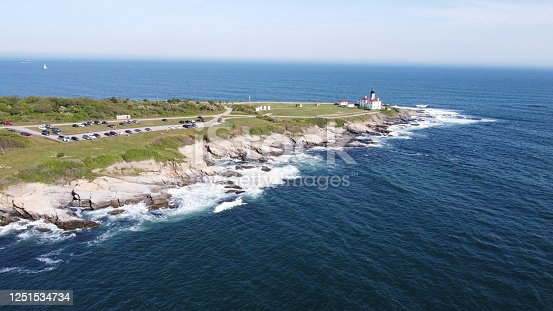 1130689824 istock photo Beaver Tail point Lighthouse in Rhode Island 1251534734