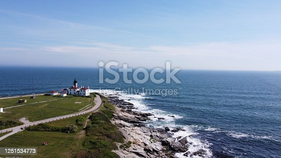 1130689824 istock photo Beaver Tail point Lighthouse in Rhode Island 1251534773