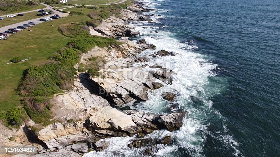 1130689824 istock photo Beaver Tail point Lighthouse in Rhode Island 1251534827