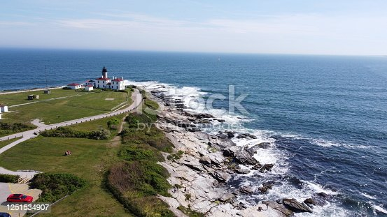 1130689824 istock photo Beaver Tail point Lighthouse in Rhode Island 1251534907