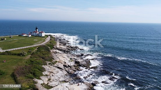 1130689824 istock photo Beaver Tail point Lighthouse in Rhode Island 1251534963