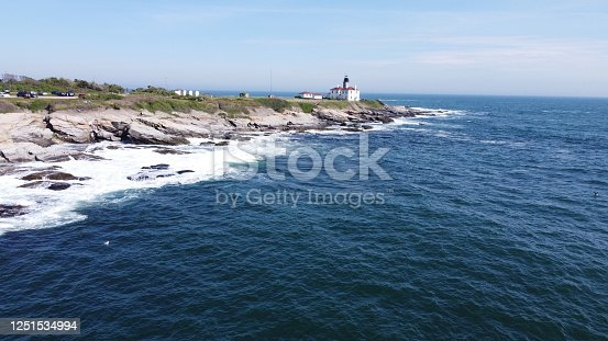1130689824 istock photo Beaver Tail point Lighthouse in Rhode Island 1251534994