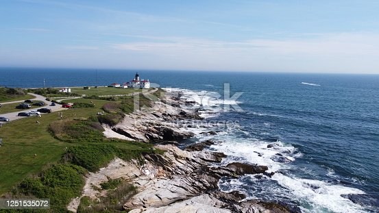 1130689824 istock photo Beaver Tail point Lighthouse in Rhode Island 1251535072