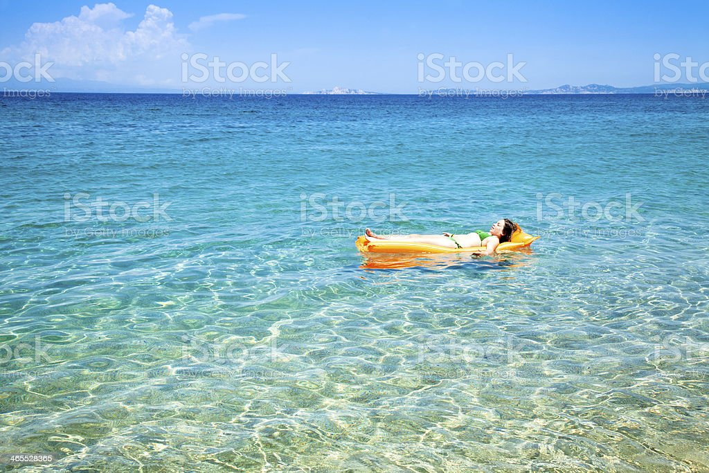 Becah total relax stock photo