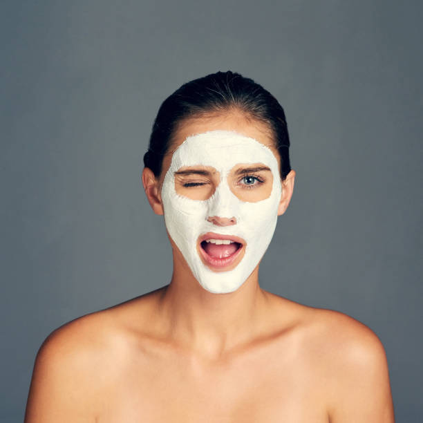 because i don't just wake up with radiant skin - chemical peel stock pictures, royalty-free photos & images