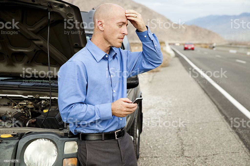 Car Troubles royalty-free stock photo