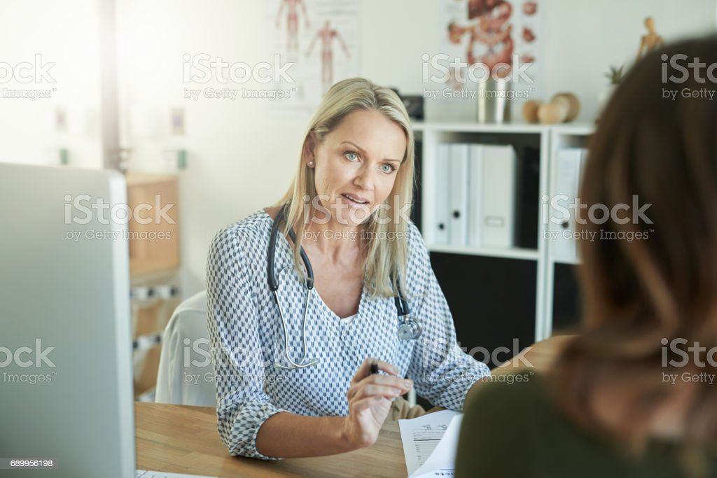 Because your health is important! stock photo