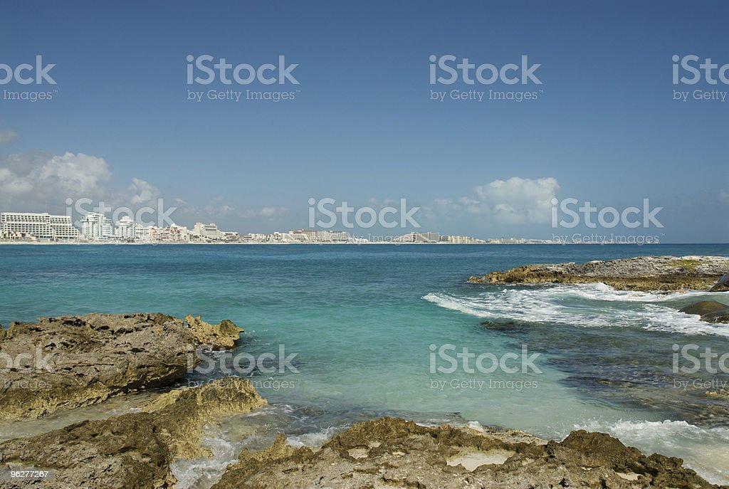 Beckoning view of Cancun stock photo