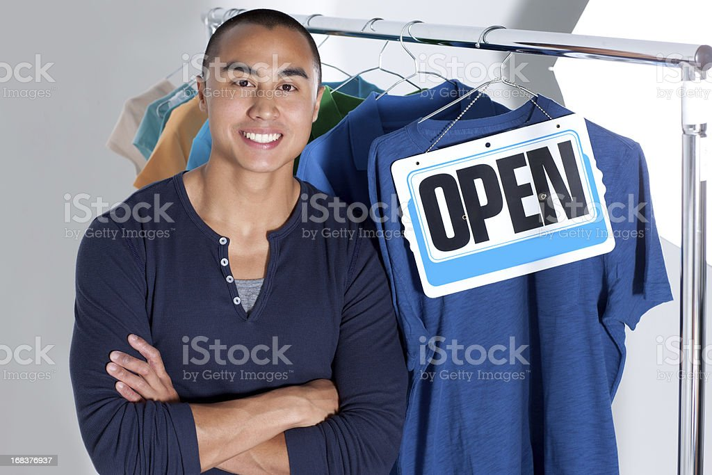 Become a boutique owner royalty-free stock photo