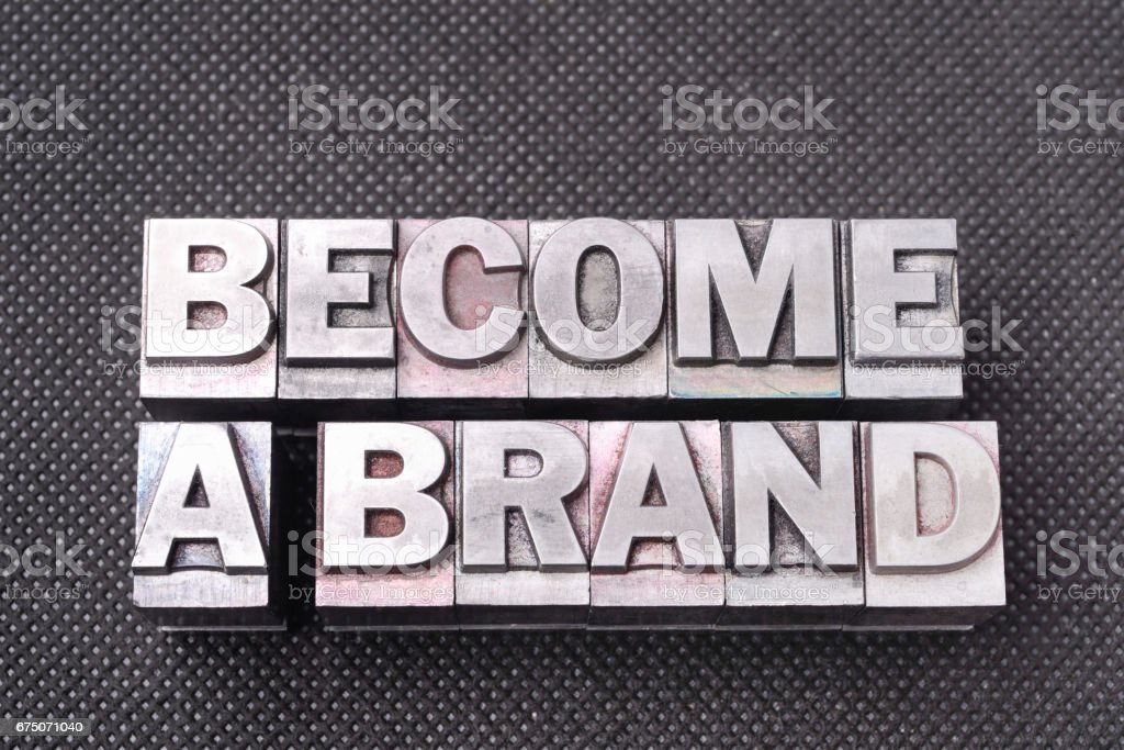become a brand bm stock photo