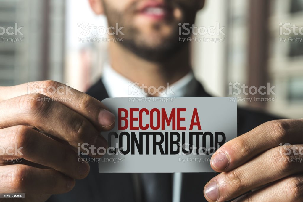 Ser un colaborador - foto de stock