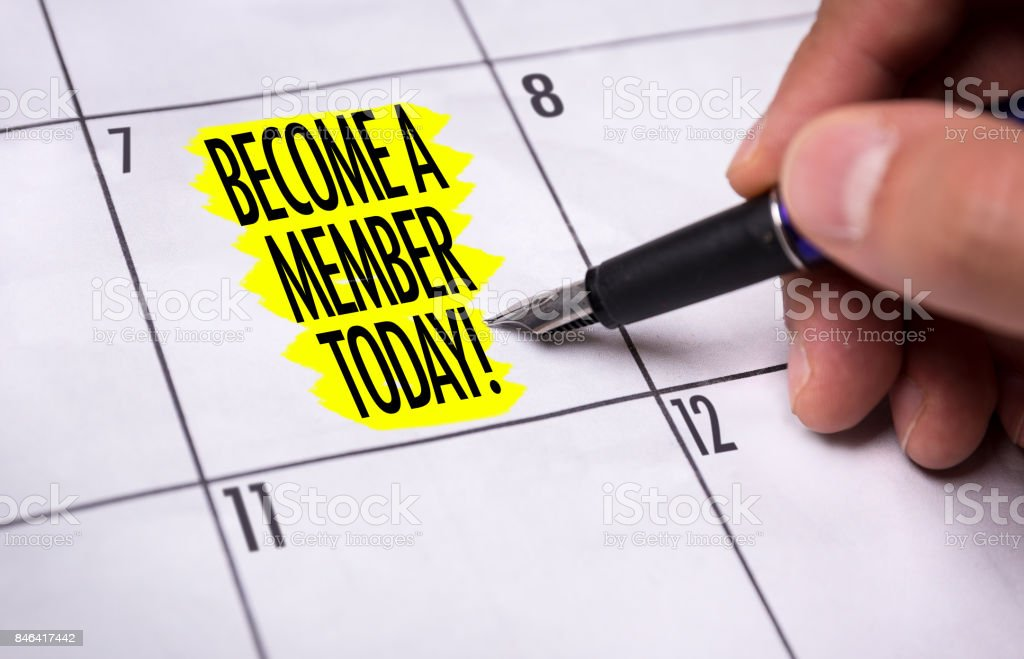 Become a Member Today stock photo