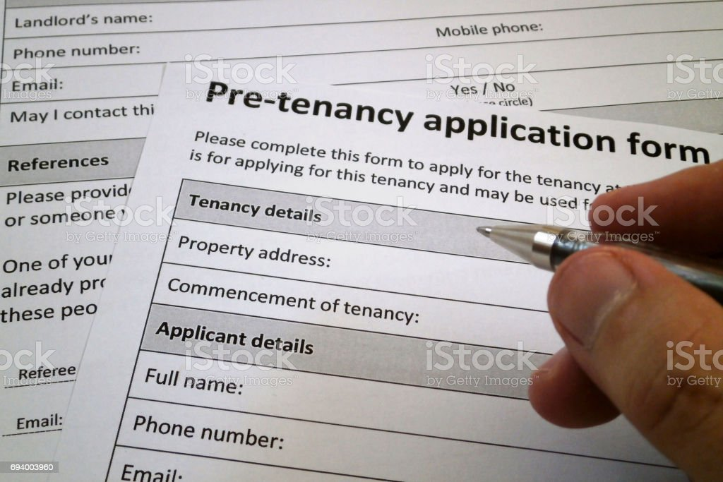 Become a tenant stock photo