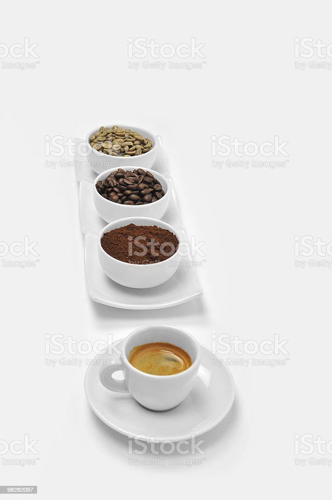 Becoming an Espresso royalty-free stock photo