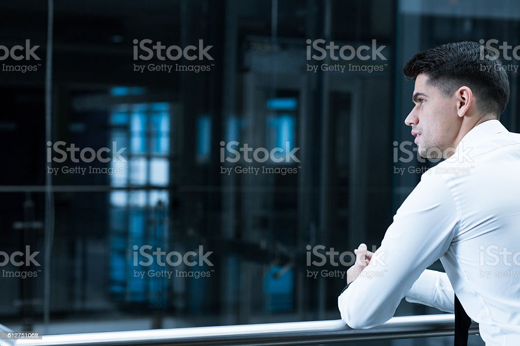 Becoming an influential business person stock photo