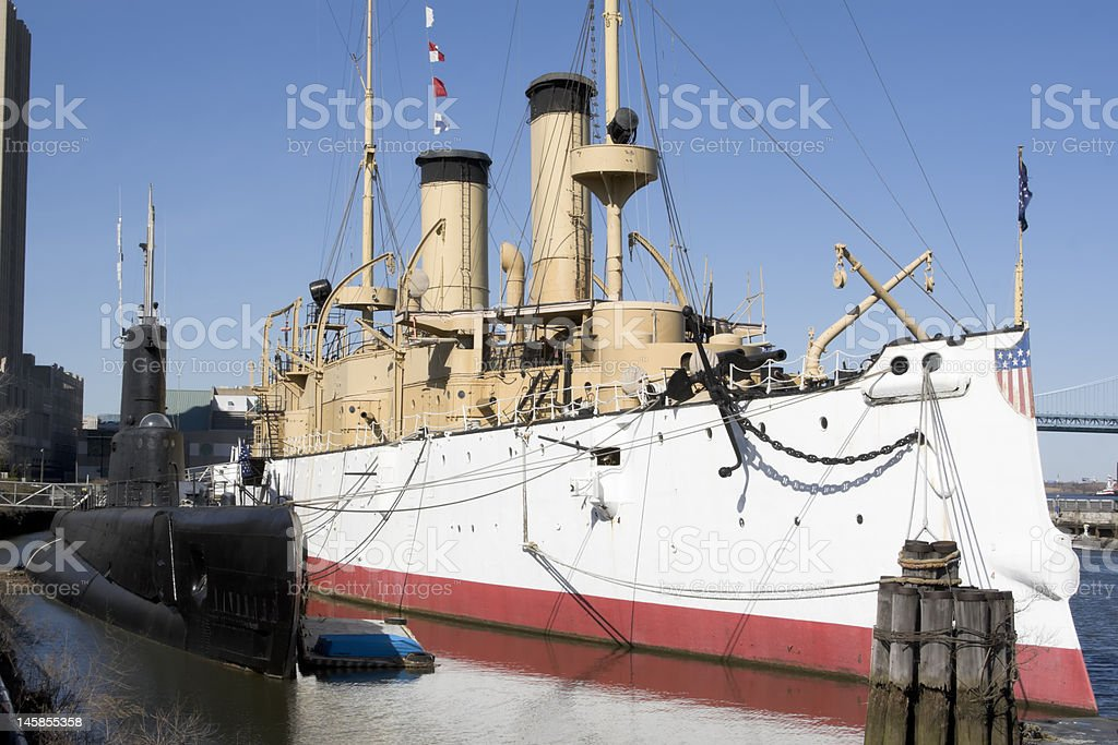 U.S.S. Becuna and Olympia royalty-free stock photo