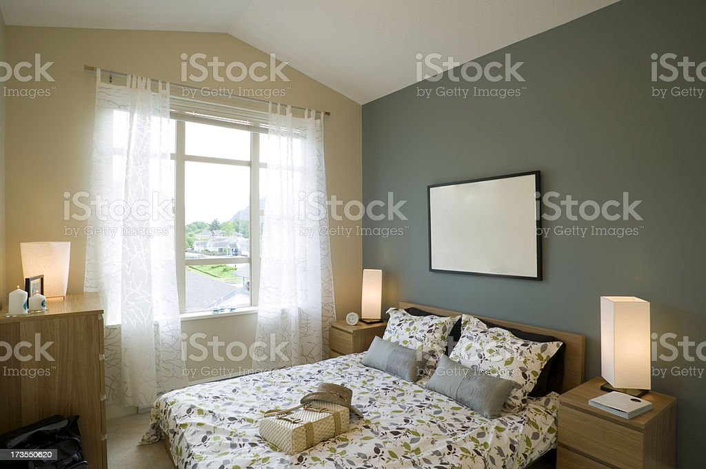 bed and breakfast bedroom stock photo