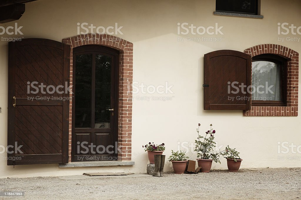 Bed and Breakfast. Color Image royalty-free stock photo