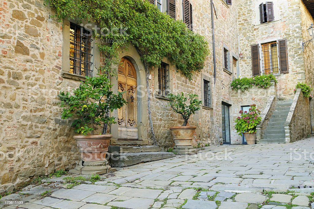 Bed And Breakfast in Italian Village Alley,Tuscany. royalty-free stock photo