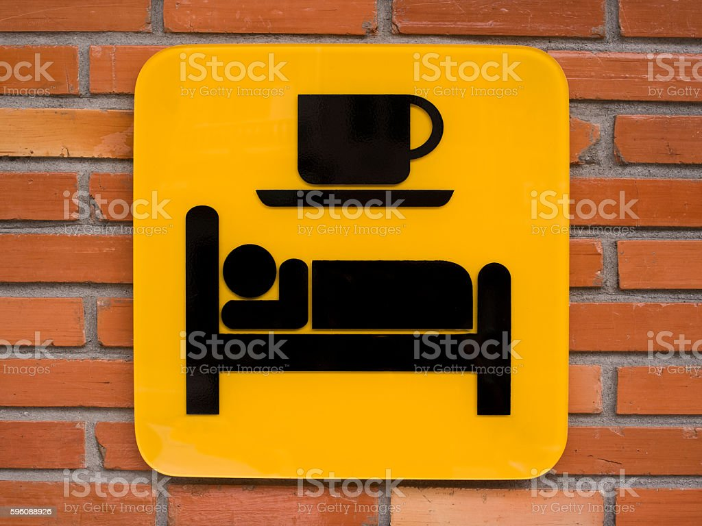 Bed and Breakfast sign. royalty-free stock photo