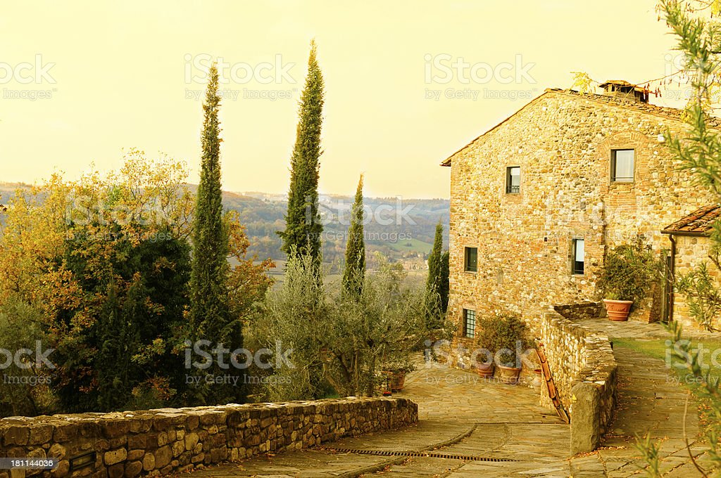 Bed And Breakfast,Tuscany,Italy stock photo