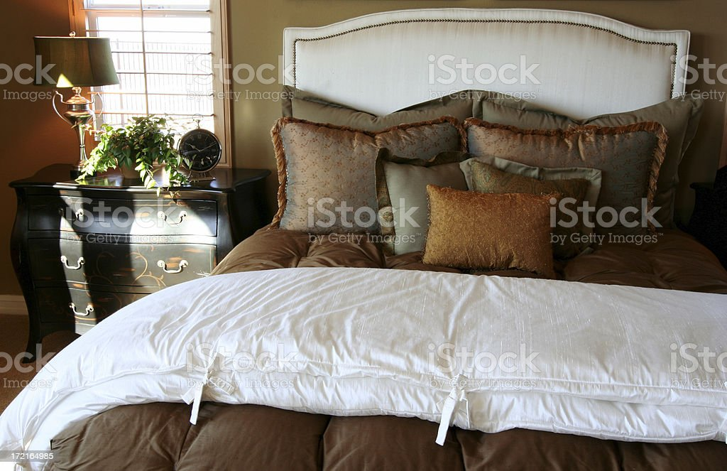 Bed and Dresser royalty-free stock photo