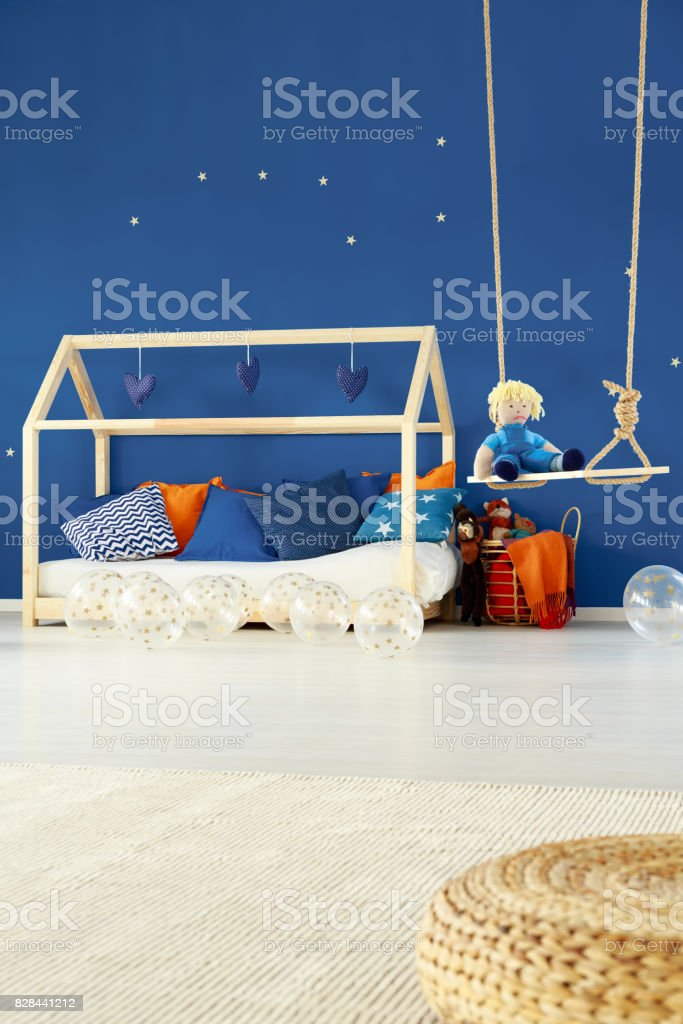 Bed And Swing In Kids Room Stock Photo Download Image Now Istock