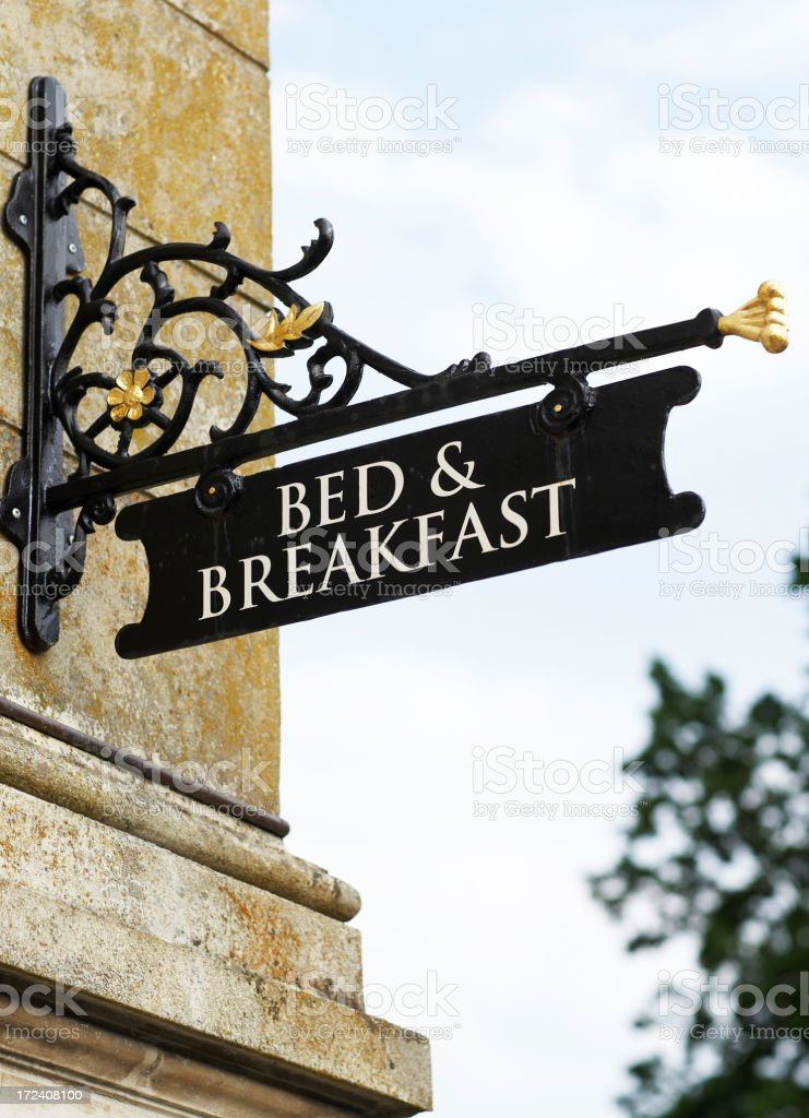 Bed & Breakfast.... royalty-free stock photo