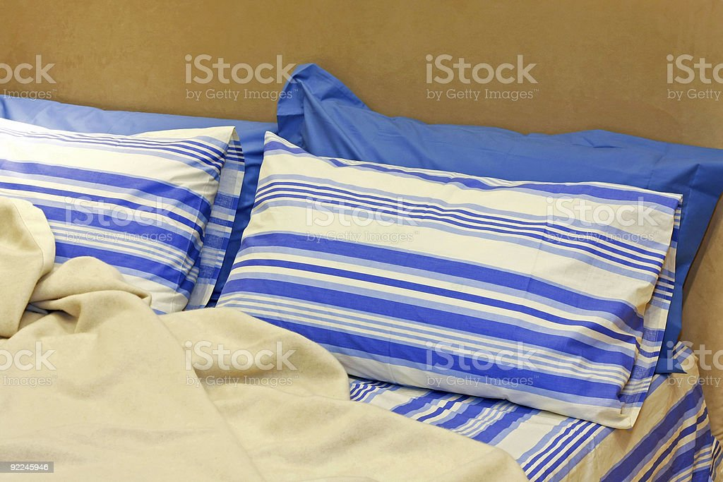Bed close up royalty-free stock photo