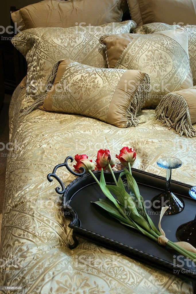 Bed decore royalty-free stock photo