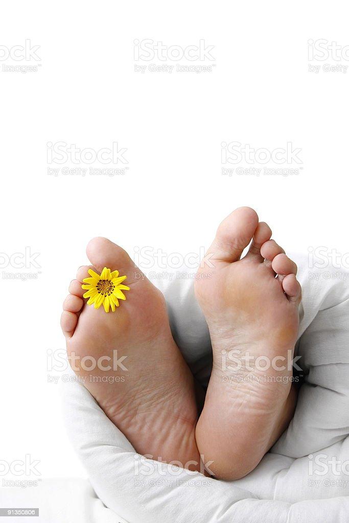 Bed Feet royalty-free stock photo