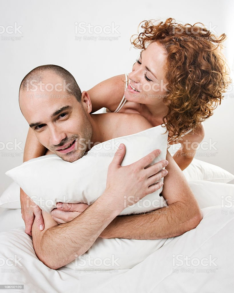 Bed games royalty-free stock photo