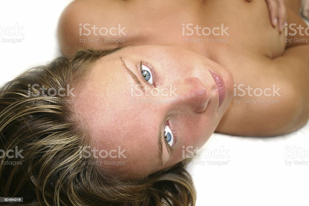 Bed Girl Series royalty-free stock photo