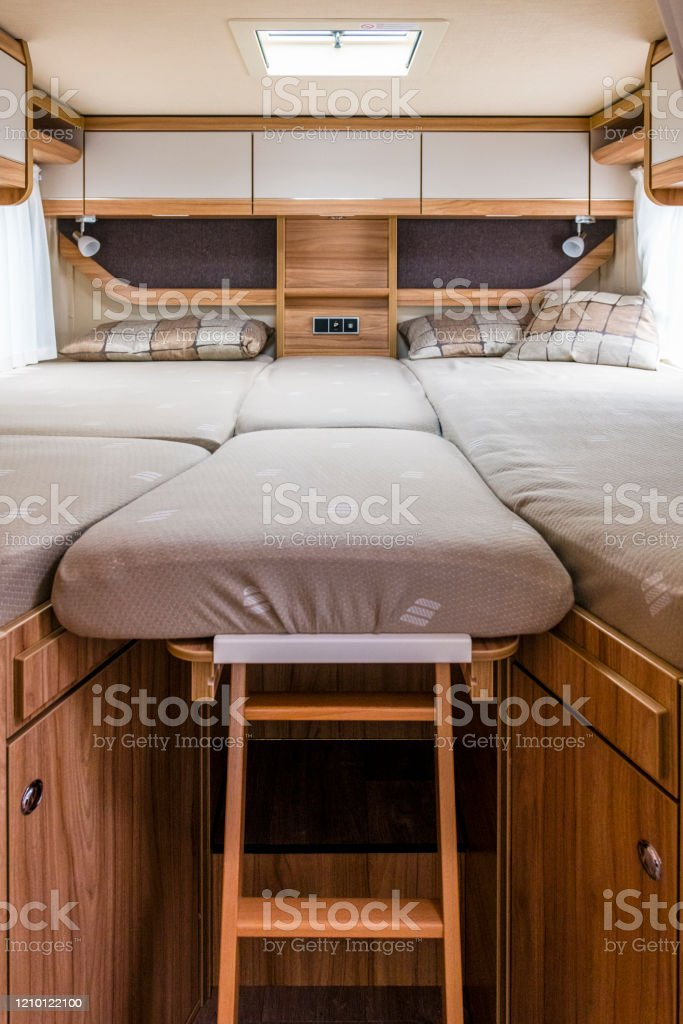 Picture of: Bed In A Camper Van Stock Photo Download Image Now Istock