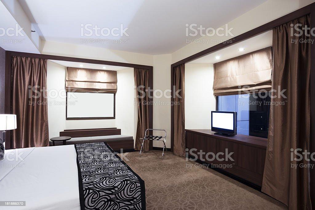 Bett Im Wohnzimmer Stockfoto und mehr Bilder von Architektur ...
